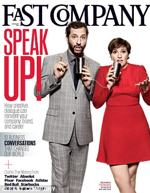 Lena Dunham and Judd Apatow for Fast Company magazine